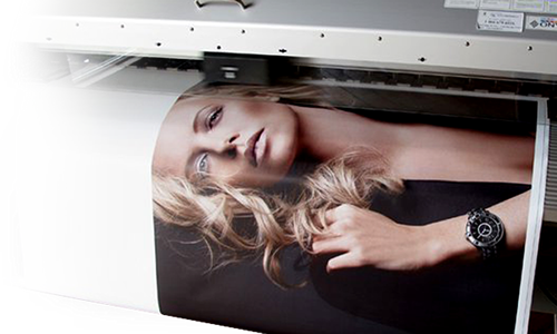Photo of a Big Footprints' large format image printing.